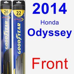 Front Wiper Blade Pack for 2014 Honda Odyssey - Hybrid