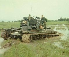 Vietnam War: Not Tank country really! Military Guns, Military Vehicles, Patton Tank, M48, Vietnam War Photos, Military Pictures, Military Modelling, War Photography, United States Army