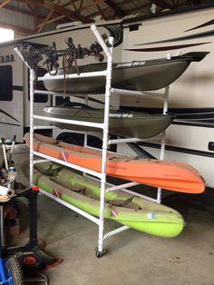 kayak accessories #fishing Canoe Boat, Canoe And Kayak, Kayak Fishing, Fishing Tips, Fishing Stuff, Ocean Kayak, Boat Dock, Diy Kayak Storage, Boat Storage