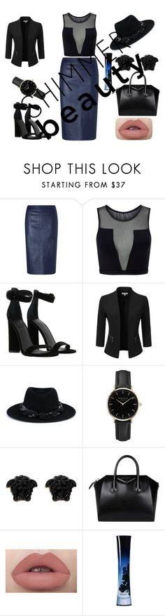 """Fashion is my style"" by kvokopola ❤ liked on Polyvore featuring Varley, Kendall + Kylie, Doublju, Maison Michel, ROSEFIELD, Versace, Givenchy and Giorgio Armani"