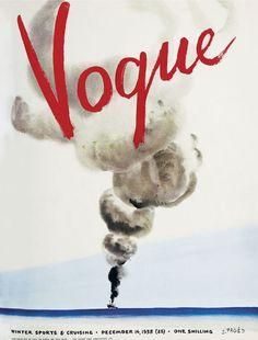 Vintage Vogue cover, December 1938.