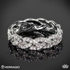 Gorgeous Verragio Enternity Diamond Band!  Eternal Braid