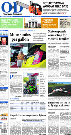 The front page for Monday, Aug. 24, 2015: More smiles per gallon