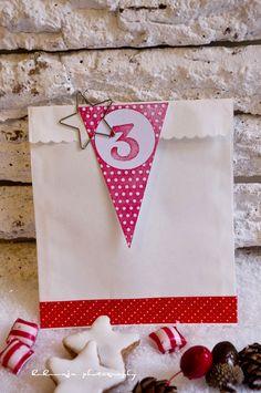 Xmas 2012 - DIY - Gestempelte Adventskalenderzahlen (Kombi-Wimpelstempel, Moosgummi Stempel, Masking Tape und Sternenklammer by kukuwaja)  http://de.dawanda.com/shop/kukuwaja-shop