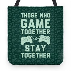 Me and my boyfriend play video games all the time together! Video Game T Shirts, Cute Tote Bags, Great Videos, Drink Sleeves, Hand Sewing, Video Games, Pillows, Sweatshirts, Game Room