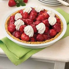 Everyone's favorite strawberry pie with a shortbread cookie crust.