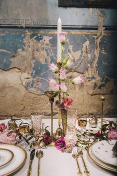 Baroque Bridal Asylum Wedding Ideas Candles Gold Details http://www.brighton-photo.com/