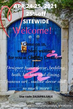 Welcome to Caristys Creations and enjoy our sitewide sale of 25% off on April 24-25, 2021 using code ZAZAPRILSALE We have a great selection of interior and exterior home decor items. Don't forget to check out our Collections section.