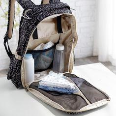 Ju Ju Be Be Right Back Diaper Bag Backpack - Licorice Twirl - Backpack Diaper Bags at Diaper Bags