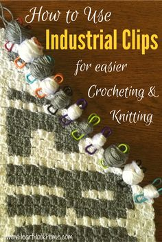 Use Industiral Clips for Yarn Bobbins in Crochet and Knitting http://hearthookhome.com/yarn-bobbins-for-crochet-and-knitting/