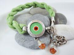 Lucky Protective Evil Eye Turkish Silk Bracelet by Lylaaccessories, $32.00