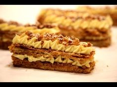 How to make Napoleon pastry - Mille Feuille - Торт Наполеон Napoleon Des...