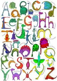 various dinosaur fonts