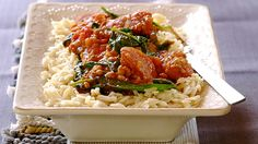 Tired of serving your dinner with mashed potato or rice? – try this mouth watering dish of spicy sautéed chorizo cooked with tomatoes and lentils served on pasta rice! Spinach Pasta Recipes, Rice Recipes, Baby Food Recipes, Meat Recipes, Baby Spinach, Chorizo, Creative Food, Lentils, Macaroni And Cheese