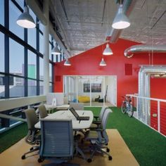 Interior design of Google's office in Silicon Valley by Clive Wilkinson. #interiordesign #google