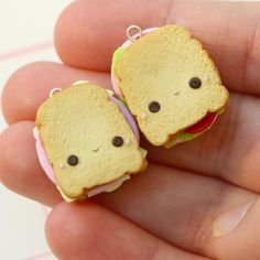 #kawaii #charms #polymer #clay #sandwiches