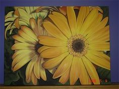 MY PAINTING STYLE: I love painting big and bold. This is acrylic on canvas. 3'X4'