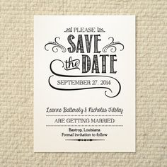 Printable Save the Date Card - Save the Date Template - Instant ...