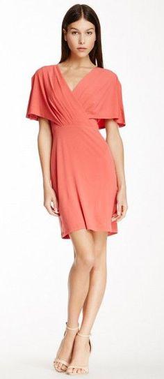Surplice V-Neck Dress