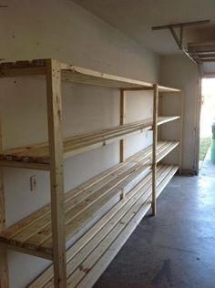 Projects from ana white diy garage storage shelves, garage diy organization Ana White, Garage Shelving, Garage Shelf, Shelving Units, Shelving Ideas, Diy Garage Storage Shelves, Storage Ideas For Garage, Barn Storage, Storage Area