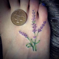 Image result for lavender foot tattoo