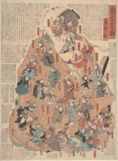Internal bodily functions dramatized by popular kabuki actors