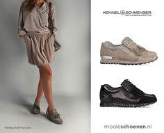 Nieuw! Deze luxe damessneakers van Kennel & Schmenger passen perfect onder zowel een nette als sportieve zomerse outfit.   http://www.mooieschoenen.nl/kennel-schmenger-schoenen-18460-taupe-sneakers-p709558  De bijpassende look shop je bij: KeK op het net in Maarssen-dorp