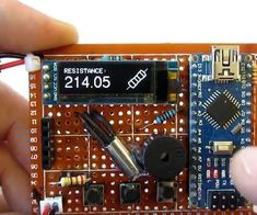 Hello, this is a mine multyfunctional Arduino device. It can be used to test sensors that are connected to analog pins, to measure resistance, to measure the voltage...