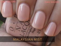 Perfect pinky nude nail polish- OPI Malaysian Mist. But I think they discontinued it :(