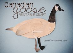 { Canadian Goose Printable Craft } from LearnCreateLove.com