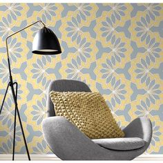 Transform any room with this colourful, retro glitter wallpaper from Rasch. The Rasch Scala collection is in stock at Go Wallpaper UK. Hall Wallpaper, Dining Room Wallpaper, Kitchen Wallpaper, Funky Wallpaper, Wallpaper Designs, Living Room Colors, Living Room Modern, Living Room Decor, Living Rooms