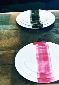 would be so happy to have a custom set of these beauties by Mathilde Labrouche on my dinner table...