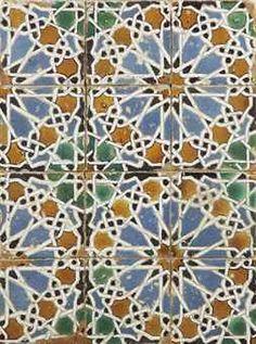 a spanish cuerda seca tile panel 16th century sevilla Islamic Patterns, Tile Patterns, Tile Design, Block Design, Granada, Tile Panels, Spanish Tile, Moorish, Sacred Geometry