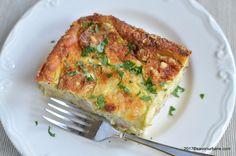 Budinca de dovlecei cu branza reteta simpla | Savori Urbane Romanian Food, Romanian Recipes, Low Carb Dinner Recipes, Lasagna, Quiche, Zucchini, Tart, Bacon, Good Food