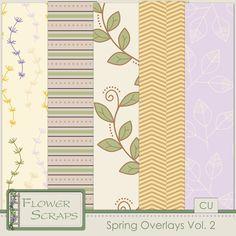 Spring Overlays Vol 2 - $3.99 : Digital Scrapbooking Studio