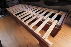 Fingerjoint bed frame