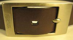 Kenneth Cole Men Genuine Bonded Leather Belt Size 38 Brown Style SEF #KennethColeReaction