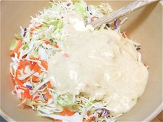 Coleslaw Dressing:  1/4 cup granulated sugar  1 teaspoon celery salt  1 teaspoon dry mustard  3/4 cup mayonnaise  2 1/2 tablespoons white vinegar