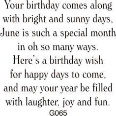 DRS Designs - June Birthday Greeting, $10.00 (http://www.drsdesigns.com/june-birthday-greeting/)
