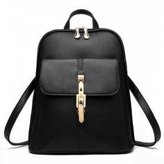 ZENBEFE Fashion Hasp Women'S Backpack Elegant Backpacks Bag Candy Colors Backpack For Girls Women Daily Backpacks Women'S Bag