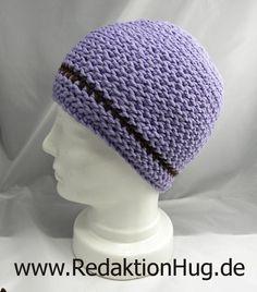 Häkeln - HUG-Mütze aus linken festen Maschen - Variante hatnut XL