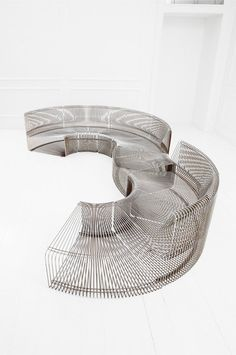 Chromed Metal Modular 'Pantonova' Sofa by Verner Panton for Fritz Hansen, European Furniture, Unique Furniture, Sofa Furniture, Luxury Furniture, Furniture Styles, Furniture Design, Booth Seating, Public Seating, Fritz Hansen