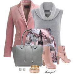"""Velvet Blazer And A Mini Skirt"" by sherryvl on Polyvore"