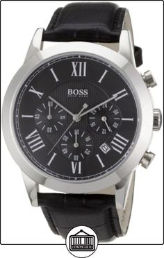 Hugo Boss 1512574 - Reloj analógico de caballero de cuarzo con correa de piel negra de  ✿ Relojes para hombre - (Gama media/alta) ✿