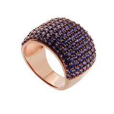Oxette Rose Gold Silver 925 Ring with zircons - Available here http://www.oxette.gr/kosmimata/daktulidia/ster.silver-rose-gold-pl.ring-purple-cz-628l-1/ #oxette #OXETTEring #jewellery