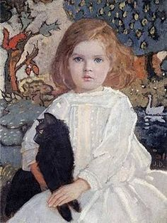 Girl with Cat, from bubblebutton