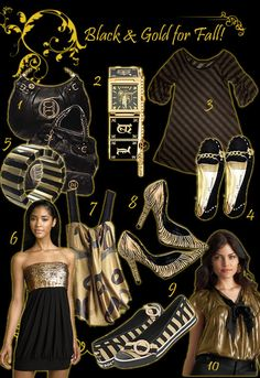 Black and Gold, Black, Gold, Black and Gold Fashion,