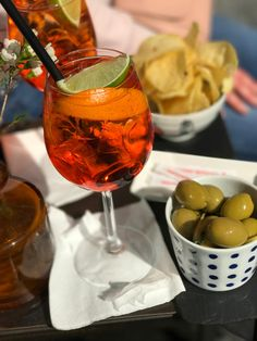 Aperol Spritz in the sunshine in Rome