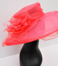 Kentucky Derby Hat, Church Hat, Easter Hat or Tea Party Hat! Make your statement with this stunner! *100% Brand new, hand made and high quality.