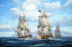 Patrick O'Brien. USS CONSTITUTION vs HMS CYANE andPatrick O'Brien. Black Bart Bearing Down. J. Russell Jinishian Gallery, Inc.